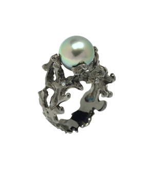 Bague Corail Perle